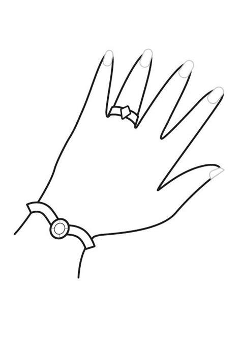 coloring pages of hands with nails ausmalbild prinzessin prinzessinnen schmuck ausmalen