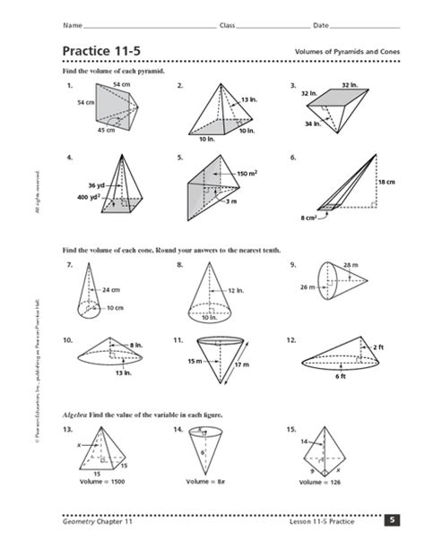 Surface Area Of A Sphere Worksheet by Surface Area Of Pyramid Worksheet Free Worksheets Library