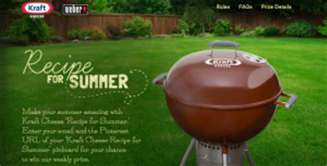 Weber Grill Sweepstakes 2016 - kraft singles summer grilling sweepstakes win a weber grill more