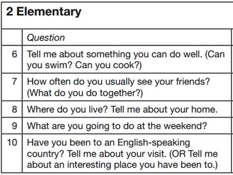 preguntas mas comunes en ingles con pronunciacion examen de nivel de ingl 233 s secci 243 n speaking preguntas