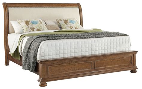 king upholstered sleigh bed paxton cal king upholstered sleigh bed 8674 270 271 406