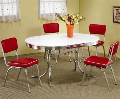 50s Dining Table And Chairs Decorating With Chrome Furniture