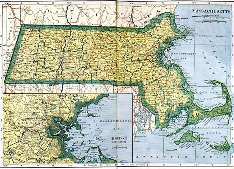 massachusetts physical map massachusetts