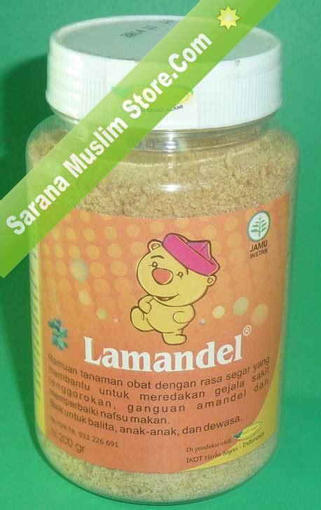 Lamandel Obat Amandel Murah Mujarab lamandel ramuan obat herbal uh atasi radang amandel sarana muslim store