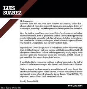 appreciation letter team player luis suarez pens letter to liverpool thanking wonderful