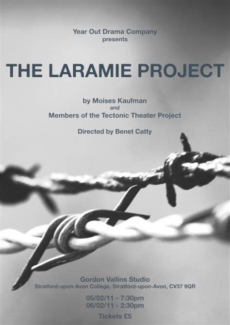 the laramie project tectonic theater project benet catty productions 187 on the stage 187 sweeney todd