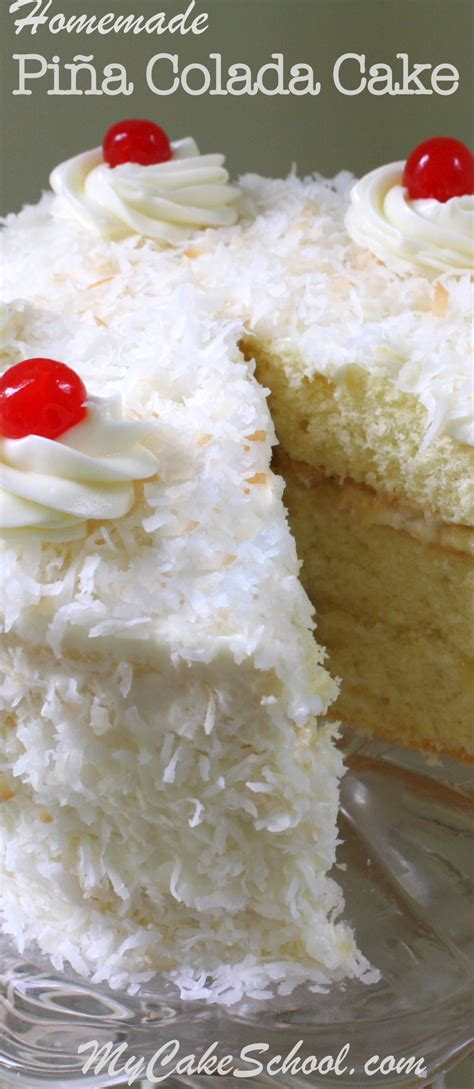 Pina Coconut Cake Recipe | pi 241 a colada cake recipe from scratch my cake school