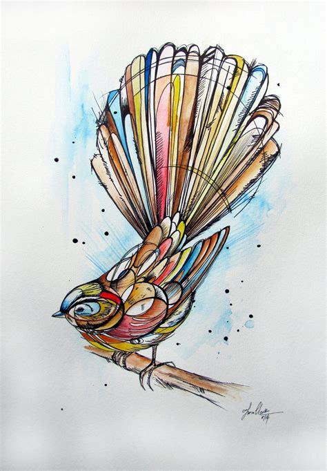 design art college of new zealand inked fantail jpg