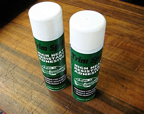 2 x Trim Spray Heavy Duty Heat Resistant Adhesive Glue