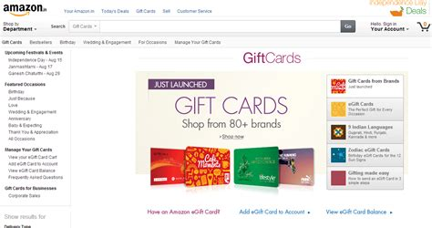 Amazon Gift Card Locations - amazon launches gift card store snapdeal introduces hotel catering category inc42