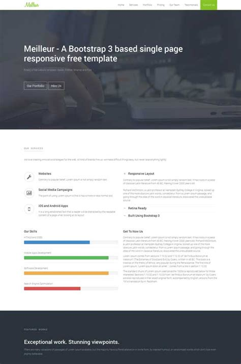 70 best one page website templates free premium