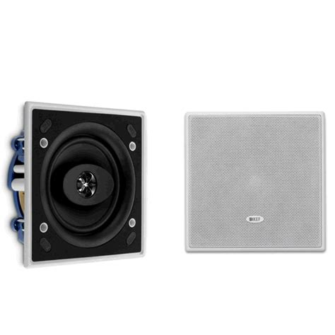 Kef Ci130qs 100w Square Ceiling Kef Ci130qs Uni Q Speakers Square In Wall Or Ceiling