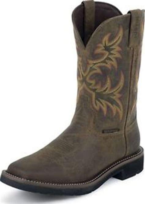 rugged cowboy boots justin s cowboy work boots brown rugged cowhide wk4689 waterproof ebay
