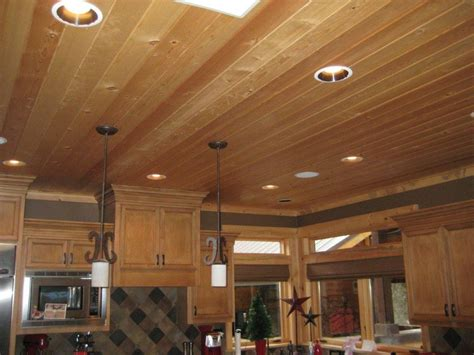 knotty pine kitchen ceiling dream home pinterest