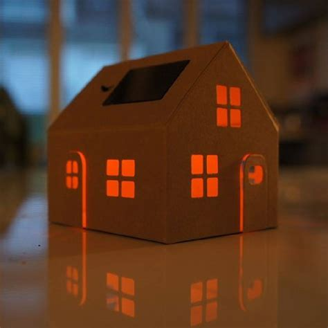 Solar Powered House Night Light By Berylune Solar Powered House Lights