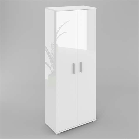 Wardrobe 70cm Wide by Elana 2 Door Wardrobe With Shelves White High Gloss And