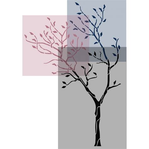 tree template for wall large tree with birds wall stencil reusable stencil for