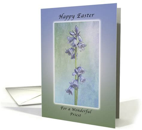 Happy Easter for a Priest, Purple Hyacinth Flowers card