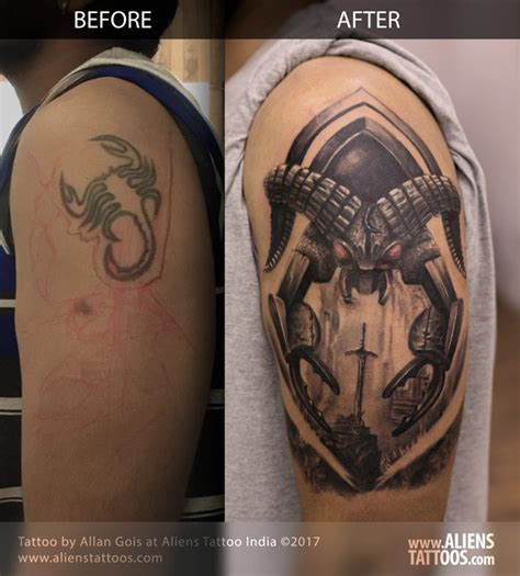 zodiac tattoo cover up scorpion cover up tattoo by allan gois at aliens tattoo india