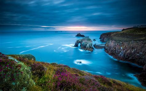 wallpaper lands  cornwall celtic sea england cape