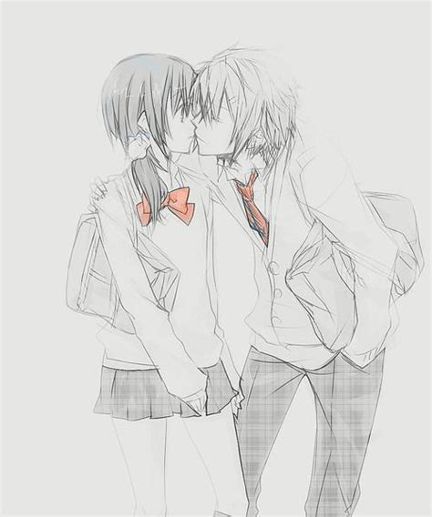 anime couples kissing sketches cute anime couple drawing couples pinterest anime