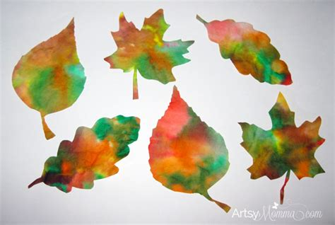 fall crafts for with leaves fall leaf crafts for artsy momma