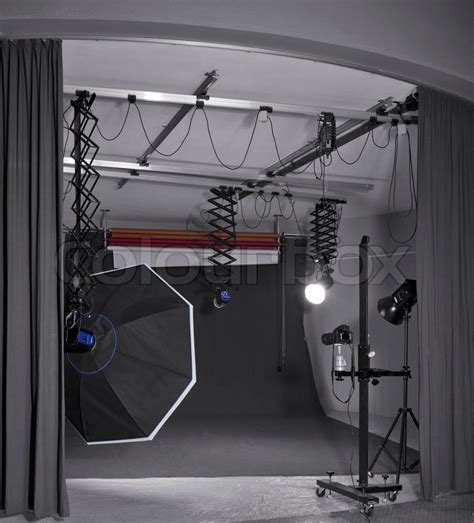 Lighting Equipment by Detail Of A Photo Studio Including And Lighting Equipment Stock Photo Colourbox