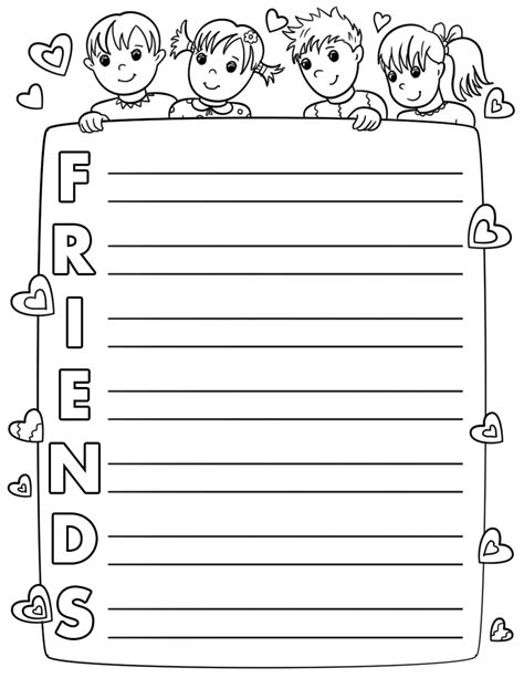 Friends Acrostic Poem Template Free Printable Papercraft Templates Acrostic Poem Template