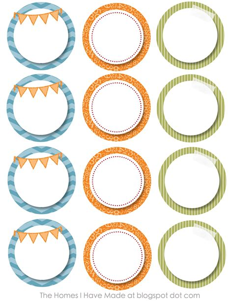 Monster Party Printables The Homes I Have Made Circle Sticker Labels Template