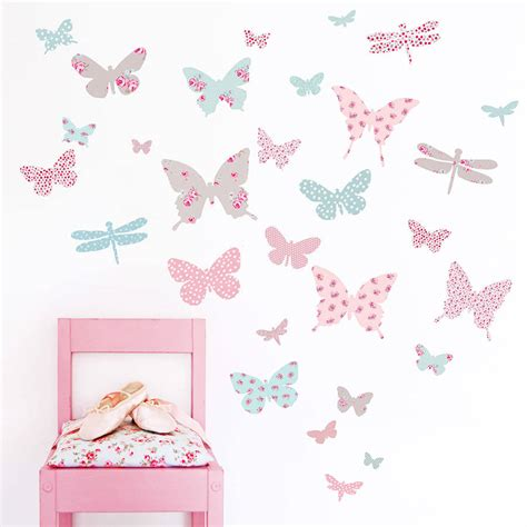 wall stickers for children children s butterfly fabric wall stickers by koko