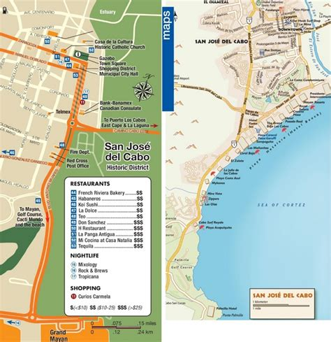 san jose tourist map san jos 233 cabo tourist attractions map
