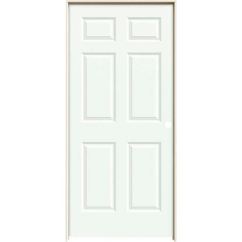 Interior Six Panel Doors Jeld Wen 36 In X 80 In Molded Smooth 6 Panel Brilliant White Solid Composite Single