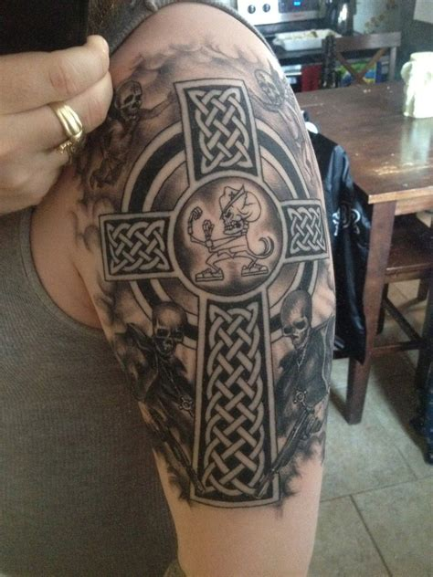 celtic cross sleeve tattoos boondock saints tattoos designs ideas and meaning