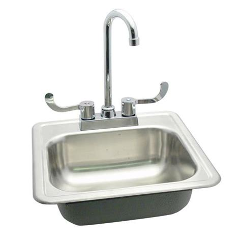 Plumbing Sink by Commercial 15 Quot Drop In Sink W Faucet Etundra
