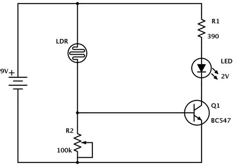 diagram for resistors ldr circuit diagram build electronic circuits