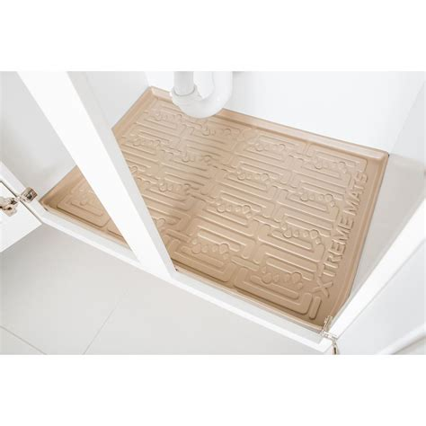 kitchen cabinet mats xtreme mats beige kitchen depth under sink cabinet mat