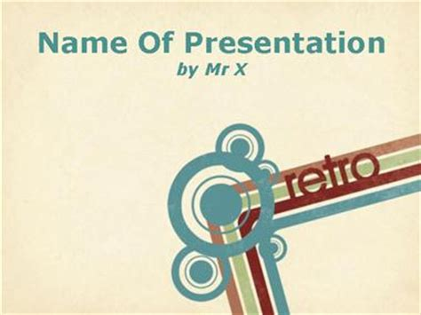 retro powerpoint template retro style background powerpoint template