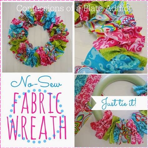 crafts to sew diy easy no sew fabric wreath new craft works