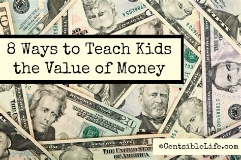 Parenting Teaching The Value Of Money by 8 Ways To Teach Your The Value Of Money