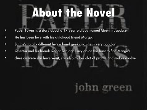themes in the book paper towns paper towns by hckates