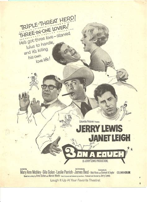 jerry lewis three on a couch 17 best images about movie ads 1930 s 80 s on pinterest