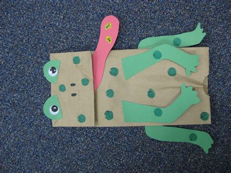 Frog With Paper - frog paper bag frog theme paper bags