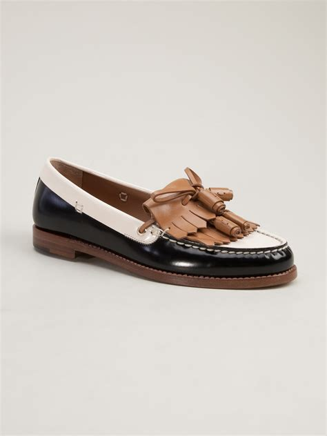 sergio loafers sergio tricolor loafer in black lyst