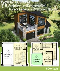 Small House Plans That You Can Add Onto Later Plan 80878pm Dramatic Contemporary With Second Floor Deck