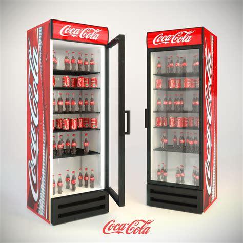 Freezer Coca Cola Refrigerator Coca Cola 3d Model Max Cgtrader