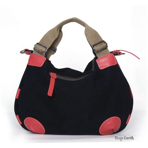 Fashion Tote Bag Black orange fashion canvas tote bags black canvas messenger