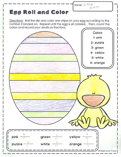 easter math activities primary theme park