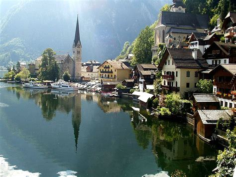 surprising places hallstatt austria europe marvelous