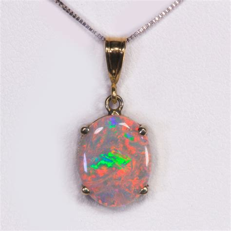 australian opal pendant 2 15 carat