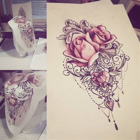 lace rose tattoo best 25 lace ideas on